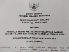 Peraturan Bupati (Perbup) Konawe Nomor 49 Tahun 2019