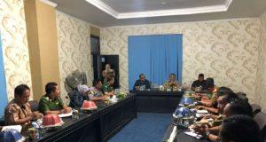 Rakor penanganan penyebaran virus corona di Kabupaten Konawe oleh Pemda Konawe dan Forum Koordinasi Pimpinan Daerah (Forkopimda) yang dipimpin Bupati Konawe, Kery Saiful Konggoasa.