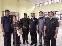 Anggota DPRD Konawe lintas komisi saat monitoring perekrutan Tenaga Kerja Lokal (TKL) di Gedung Wekoila, Senin (20/7/2020).