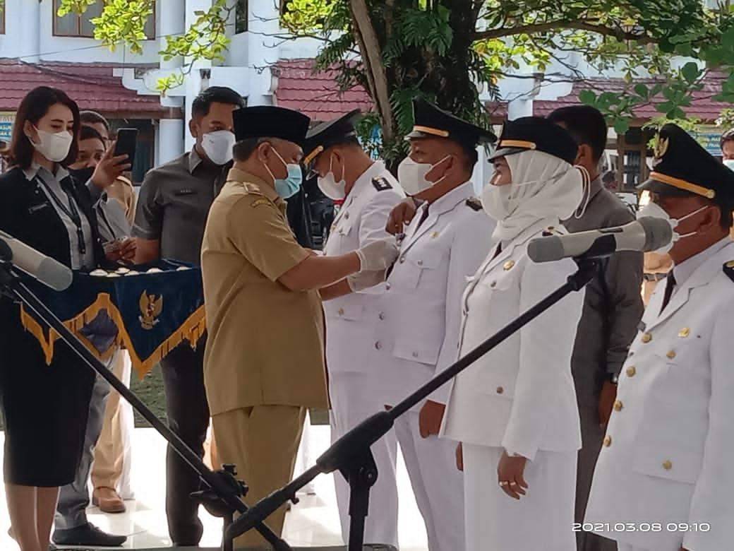 Pelantikan Camat oleh Bupati Konawe Kery Saiful Konggoasa. Pelantikan berlangsung di Pendopo Kantor Bupati Konawe yang dihadiri seluruh Organisasi Perangkat Daerah (OPD) Senin (8/3/2021).