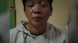 Zul (38 tahun) tersangka kasus pencurian kendaraan bermotor dan alat pertanian saat diamankan aparat kepolisian.